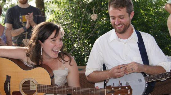 Jamming with friends at our wedding